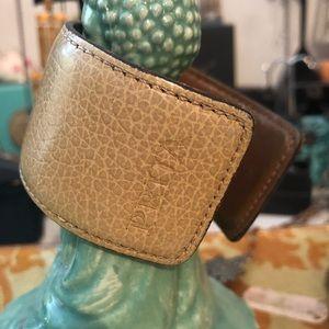 PRUA Leather Cuff Bracelet